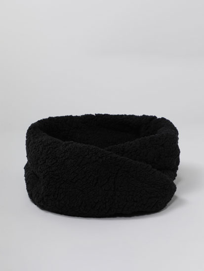 Faux shearling snood