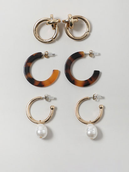 3-Pack of assorted earrings
