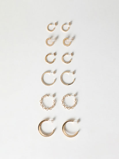 6-Pack of hoop earrings