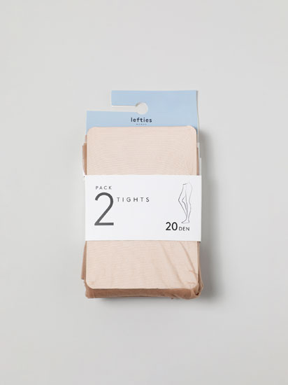 Pack of 2 pairs of tights. 20 den.