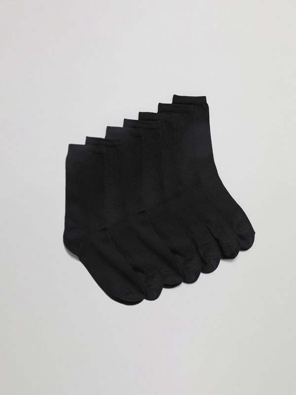Pack of 7 pairs of basic long socks