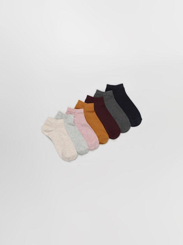 Pack de 7 pares de meias curtas básicas
