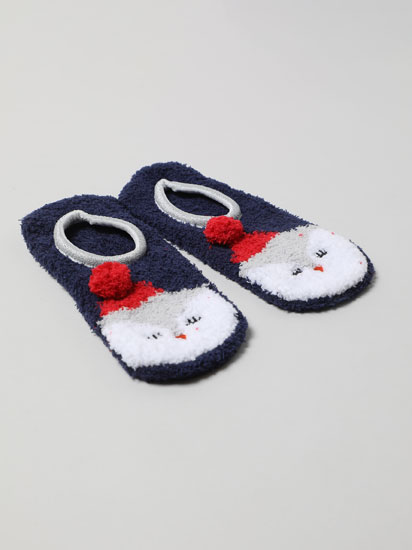 Pair of non-slip penguin socks