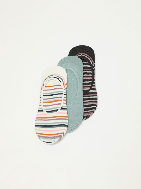 Pack of 3 pairs of striped socks