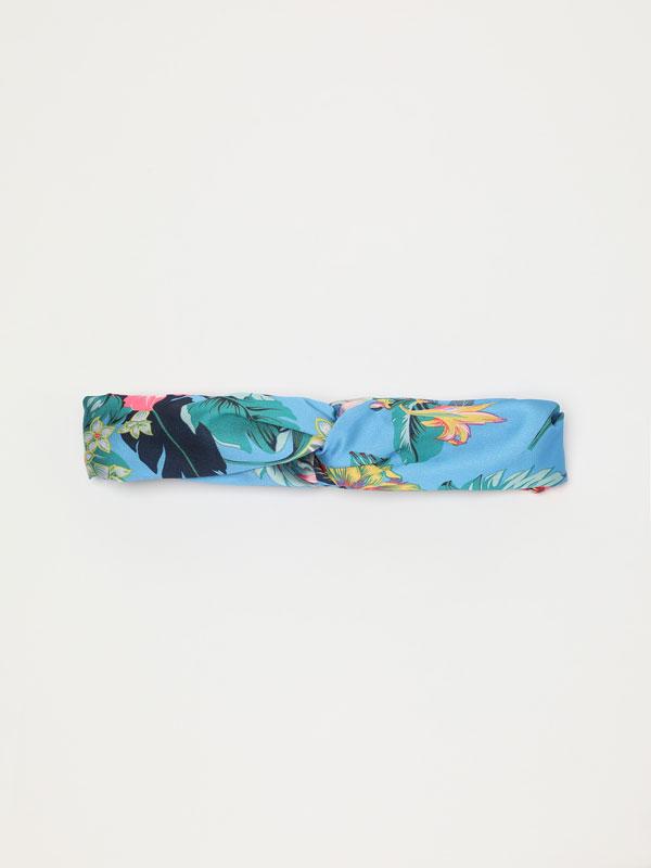 Thin tropical print bandana