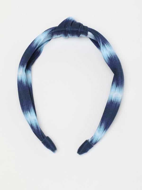 Diadema amb estampat tie-dye
