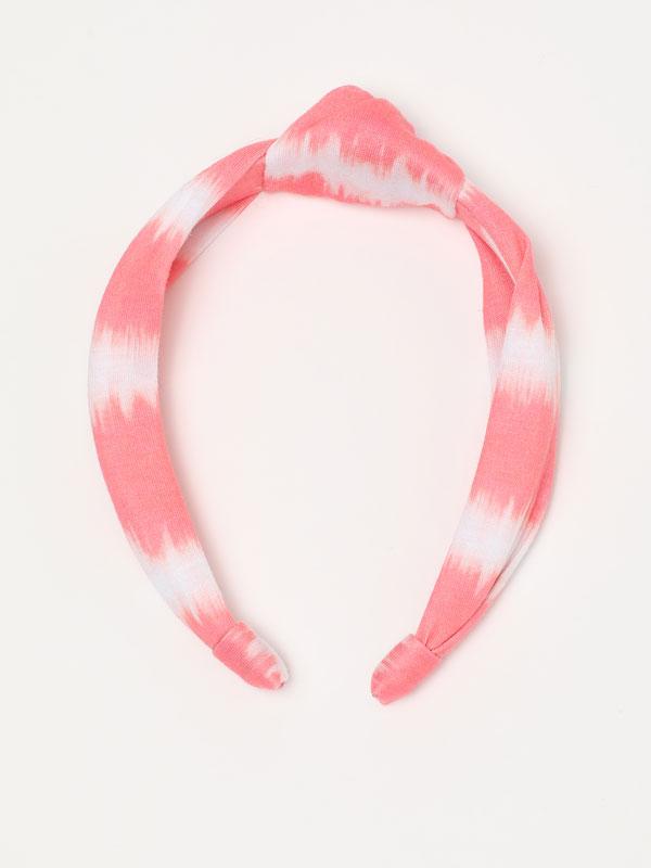 Bandolete com estampado de tie-dye