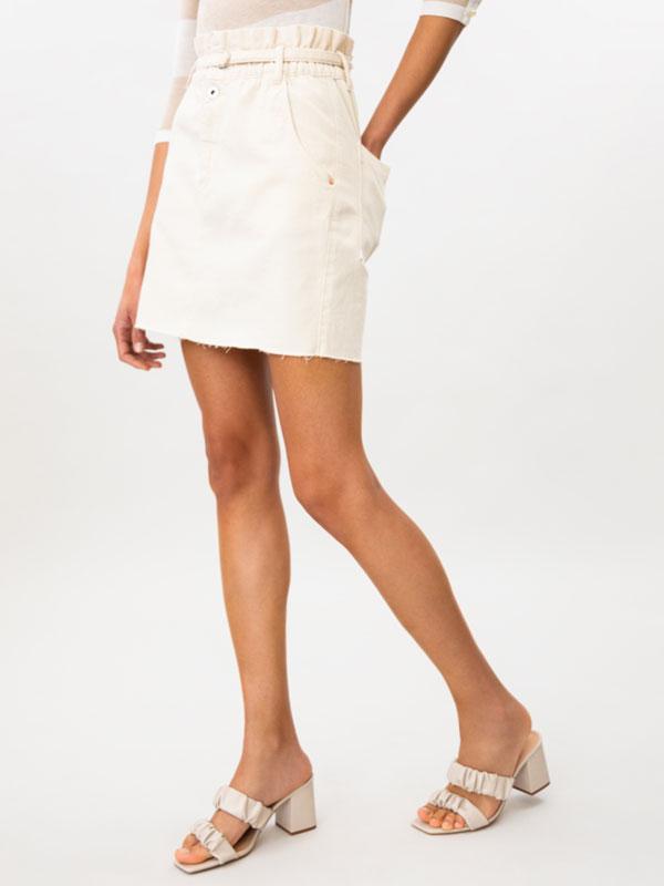 Skirt with elastic waistband