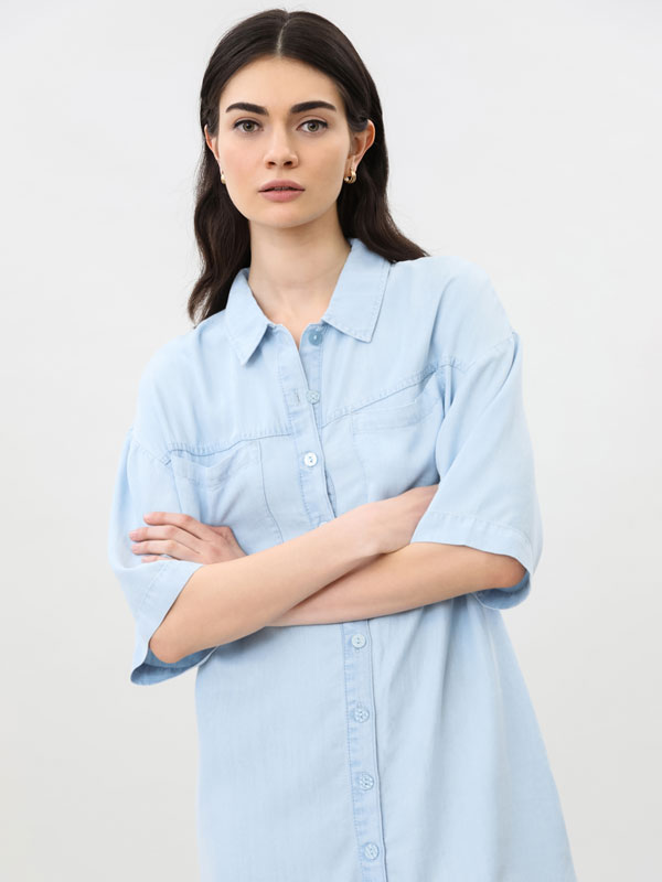 Lightweight shirt dress