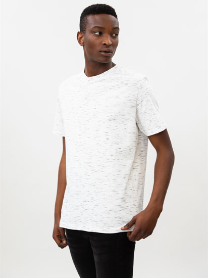 Short sleeve flecked T-shirt