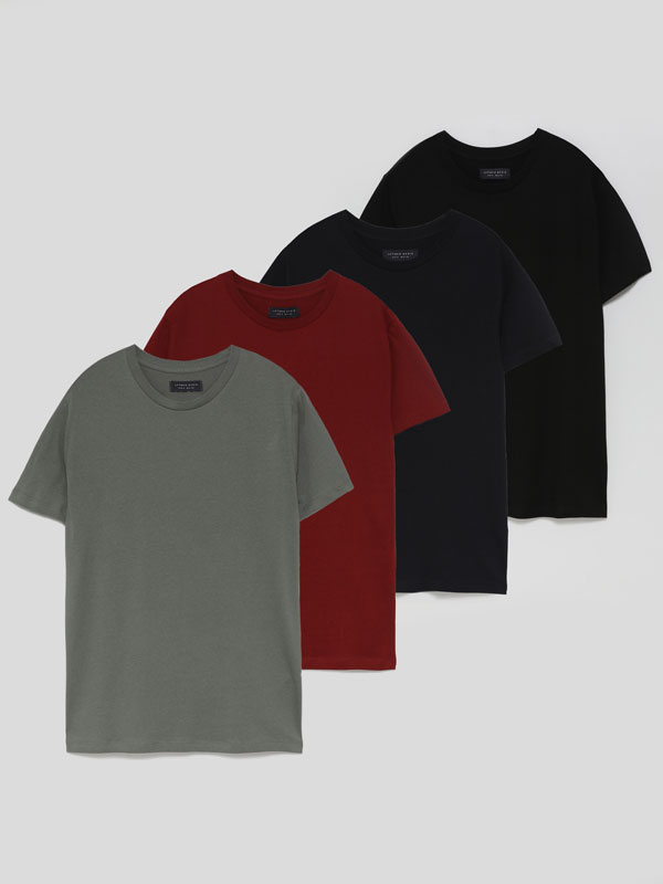 Pack de 4 camisetas básicas