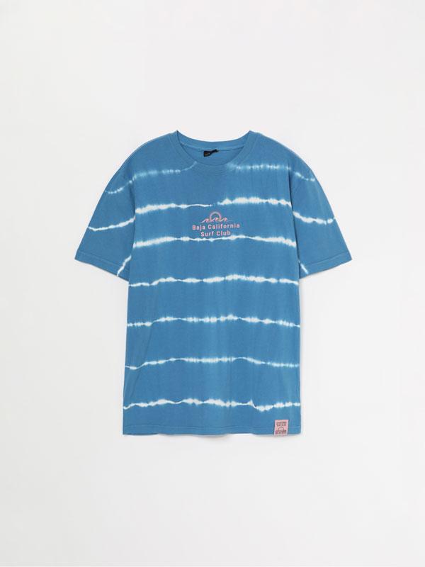 Tie-dye T-shirt with print