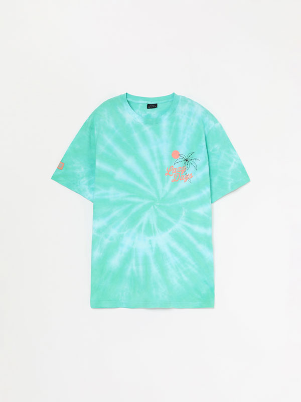 Camiseta Tie Dye con estampado