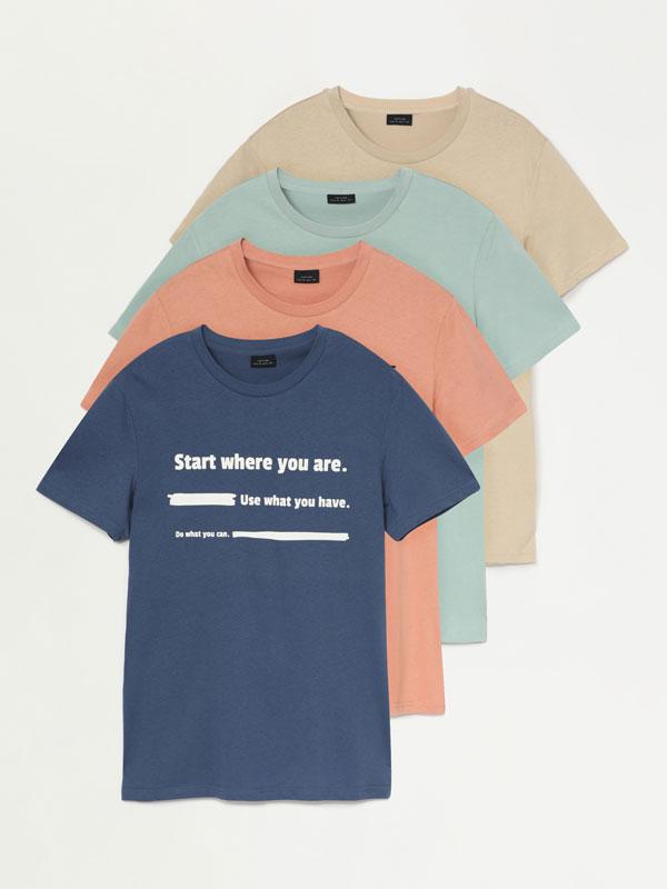 Pack de 4 camisetas estampadas