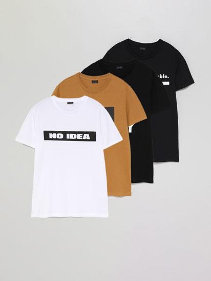 Pack de 4 samarretes estampades