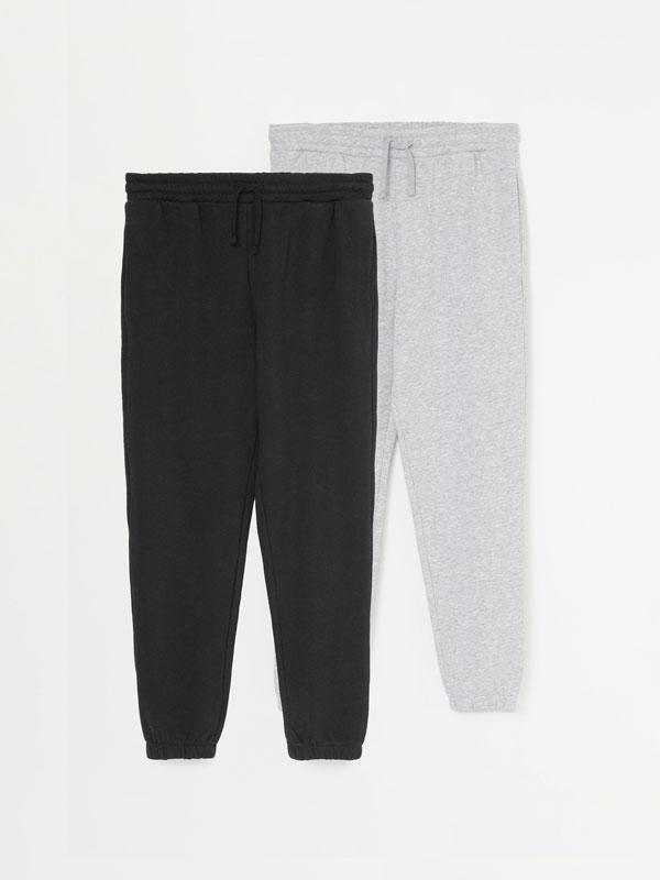 Pack de 2 pantalones joggers básicos