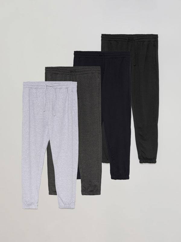 Pack de 4 calças jogger básicas