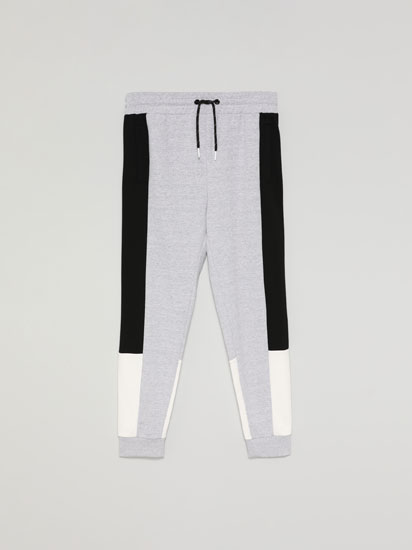 Pantalón Jogger color block
