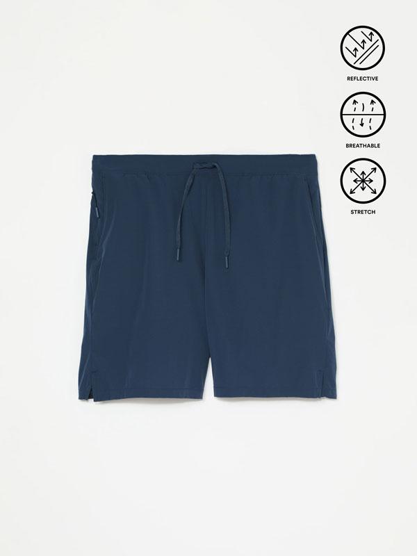 Sporty Bermuda shorts