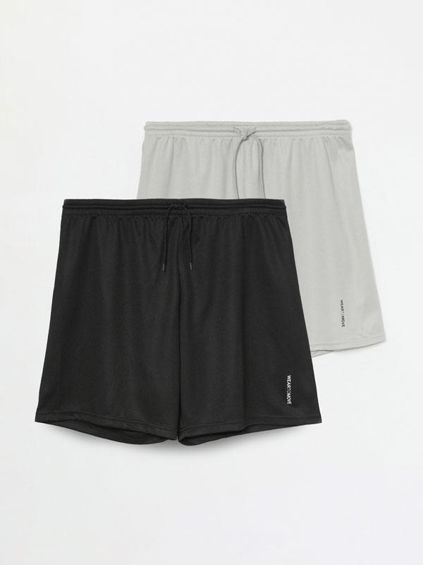 Pack de 2 calções bermuda desportivos