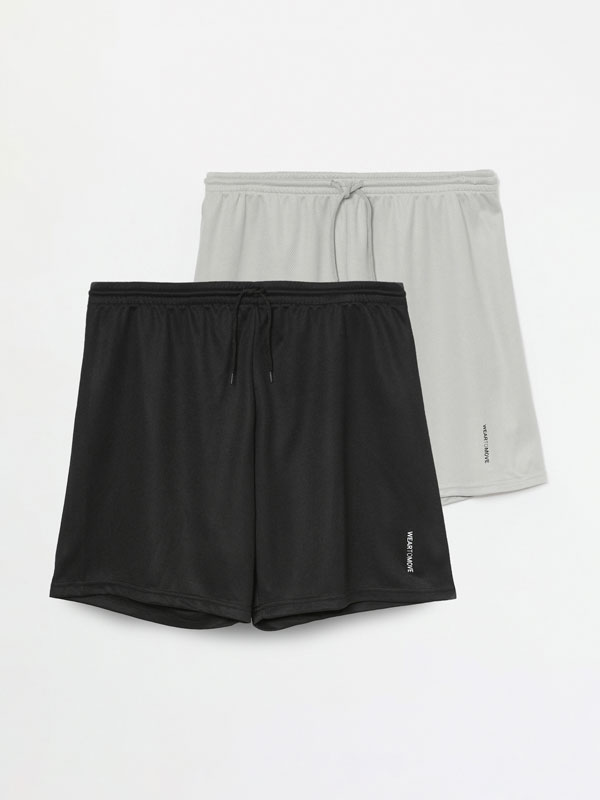 2-Pack of Bermuda sports shorts