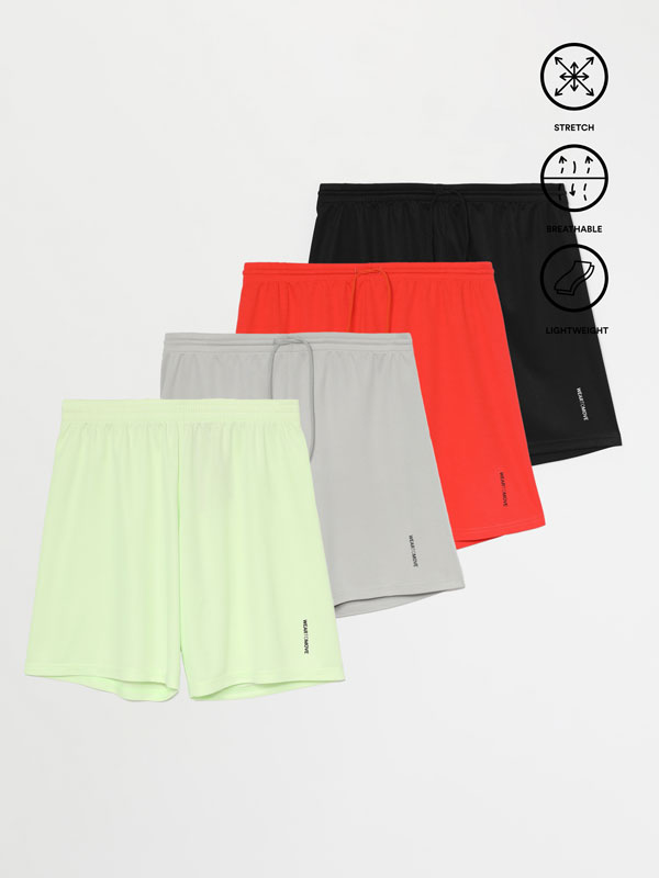 4-Pack of Bermuda sports shorts