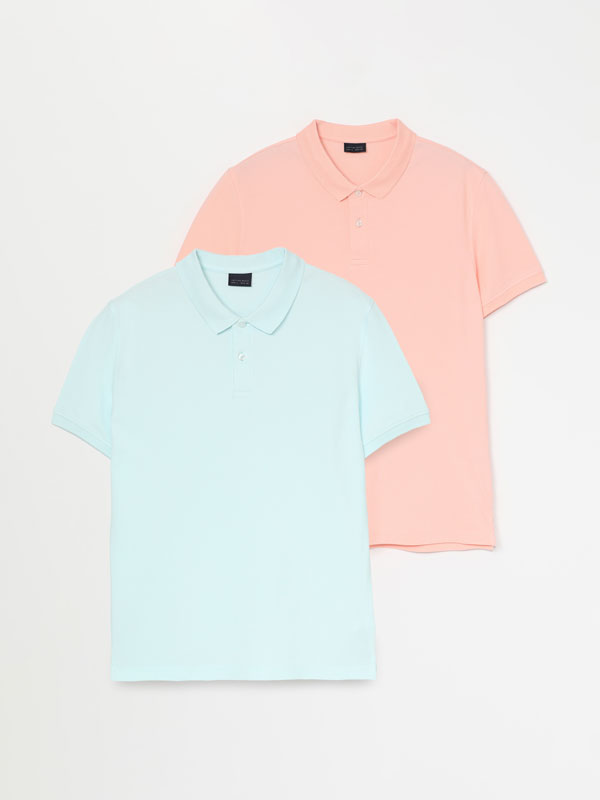 2-PACK OF BASIC POLO SHIRTS