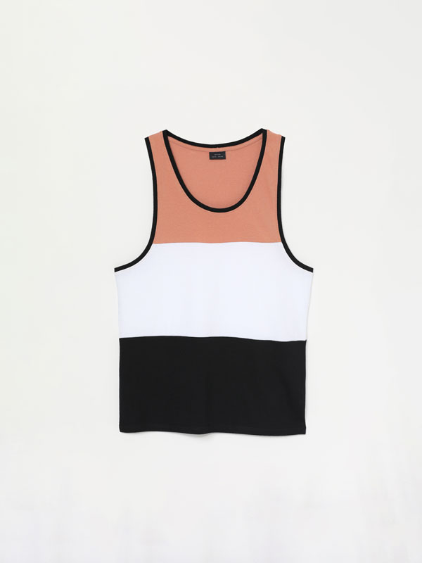 Camiseta de tirantes Color Block
