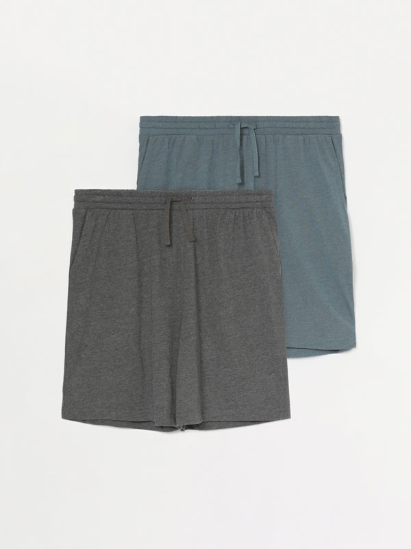 Pack of 2 pairs of pyjama shorts