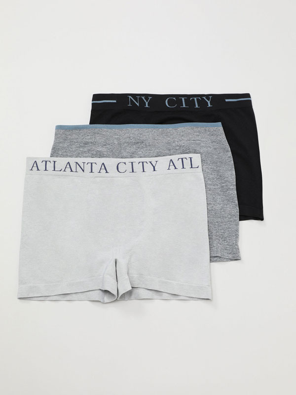 Pack of 3 seamless boxers