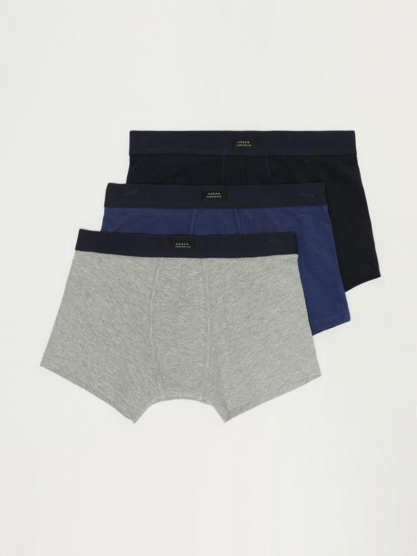 Pack de 3 boxers justos básicos