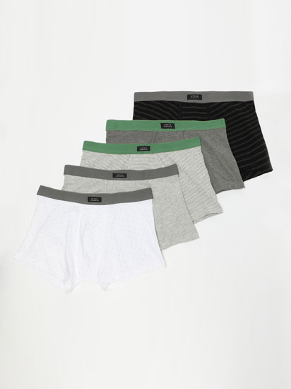 5-pack of printed boxers
