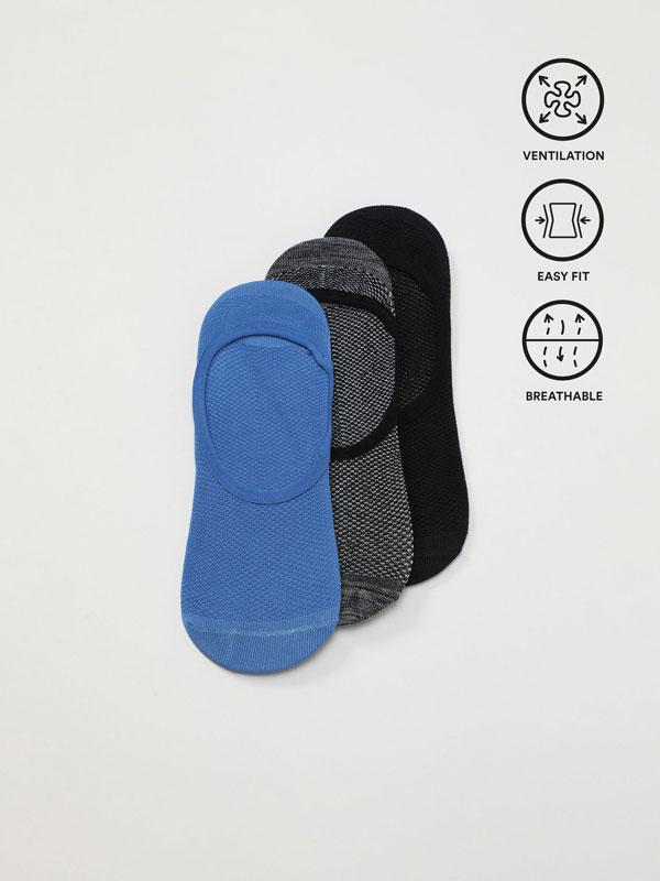 Pack de 3 pares de calcetines Invisibles Deportivos