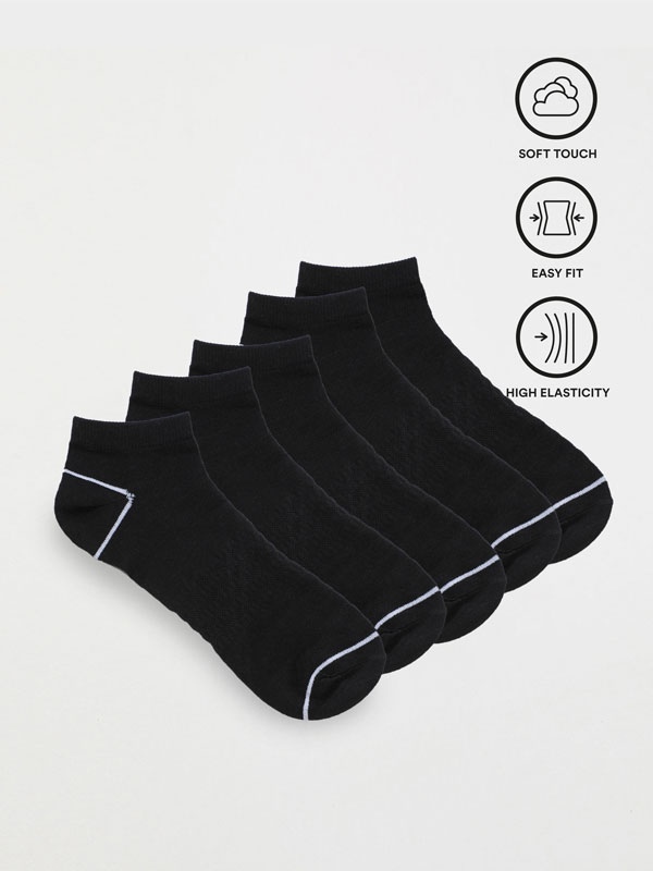 Pack of 5 sporty ankle socks