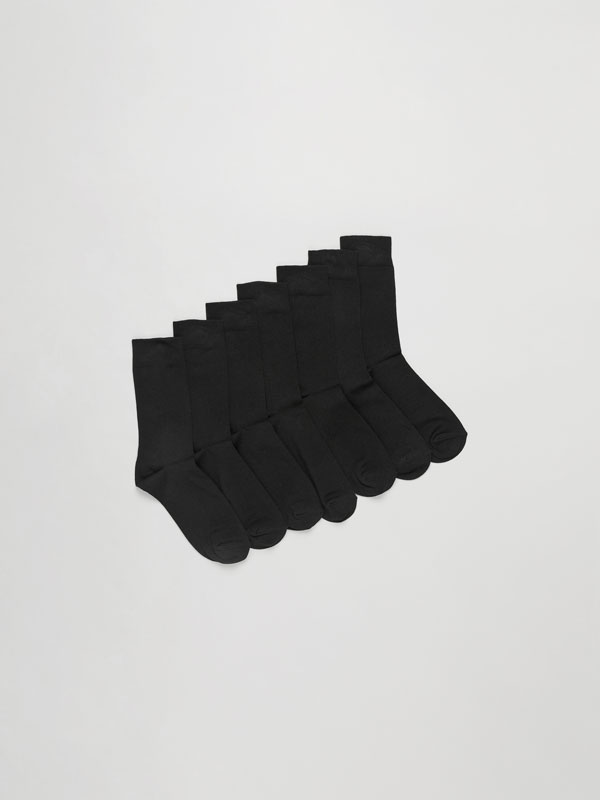 Pack of 7 pairs of basic long socks