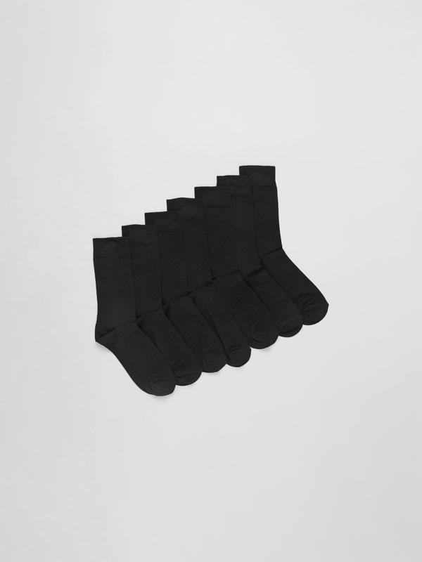 Pack de 7 Pares de Calcetines Largos Básicos