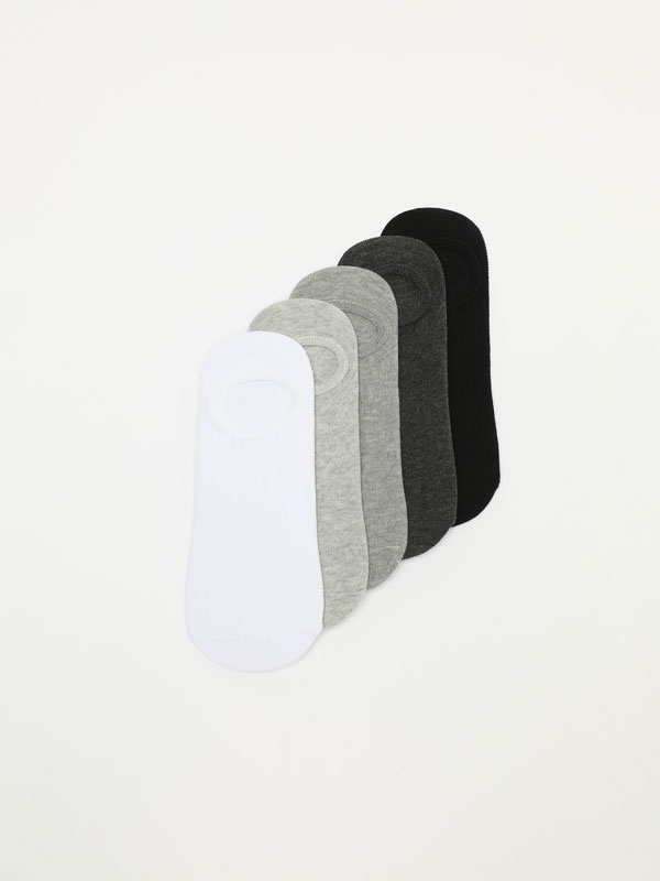 5-PACK OF BASIC NO-SHOW SOCKS