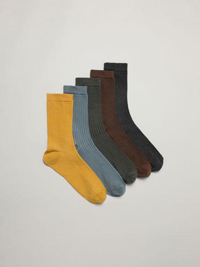 Pack de 5 pares de meias compridas