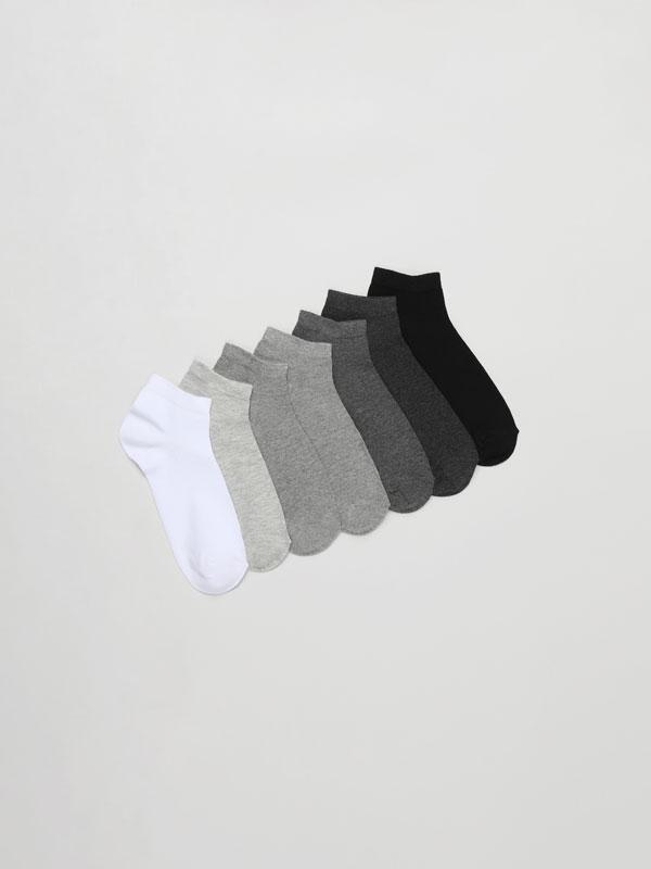 Pack de 7 pares de calcetíns nocelleiros básicos
