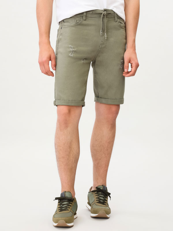 Skinny Colourful Bermuda Shorts
