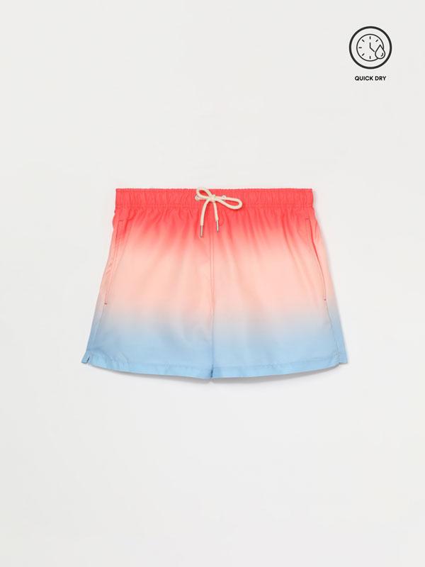 Dip-Dye print swim shorts