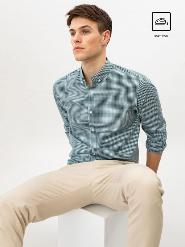 Camisa de quadres de fàcil planxament