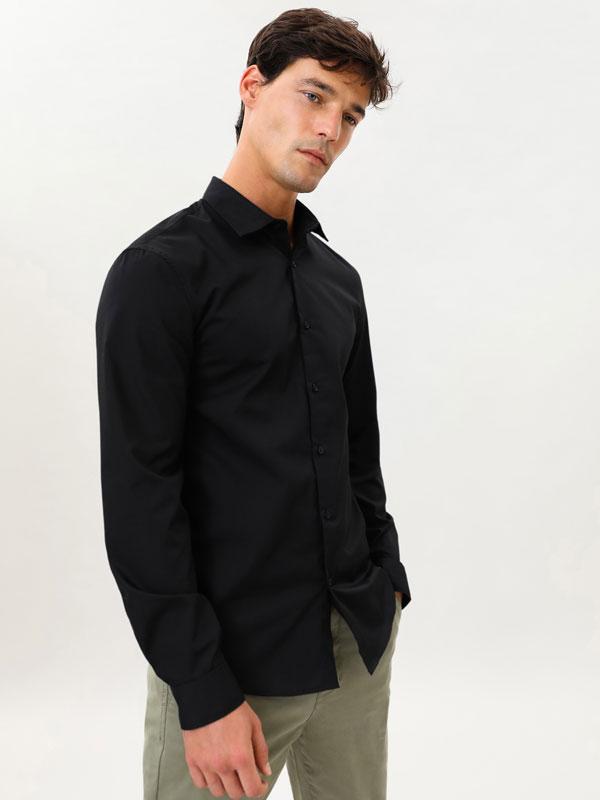 Camisa Básica Fácil De Engomar
