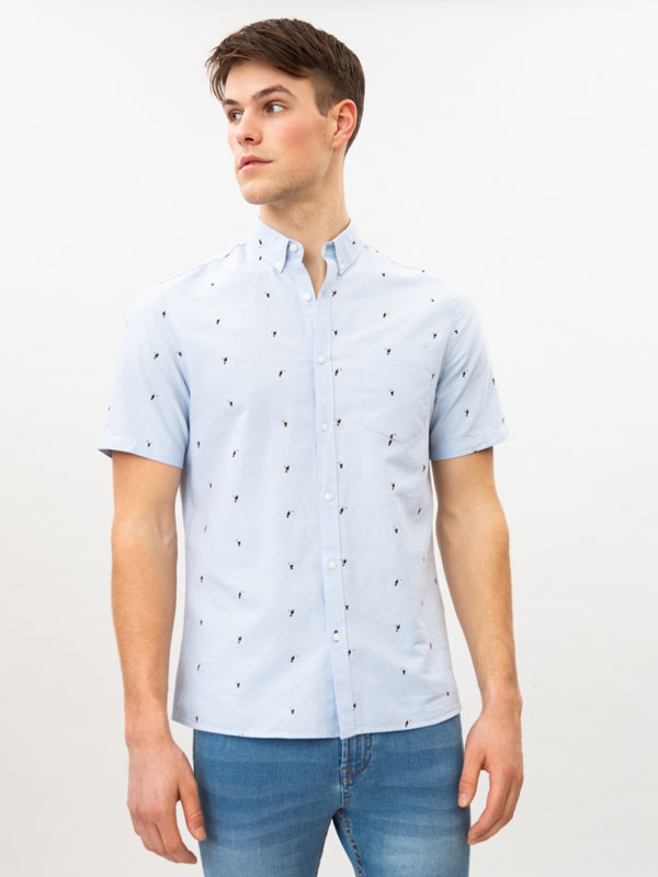 Camisa òxford estampada
