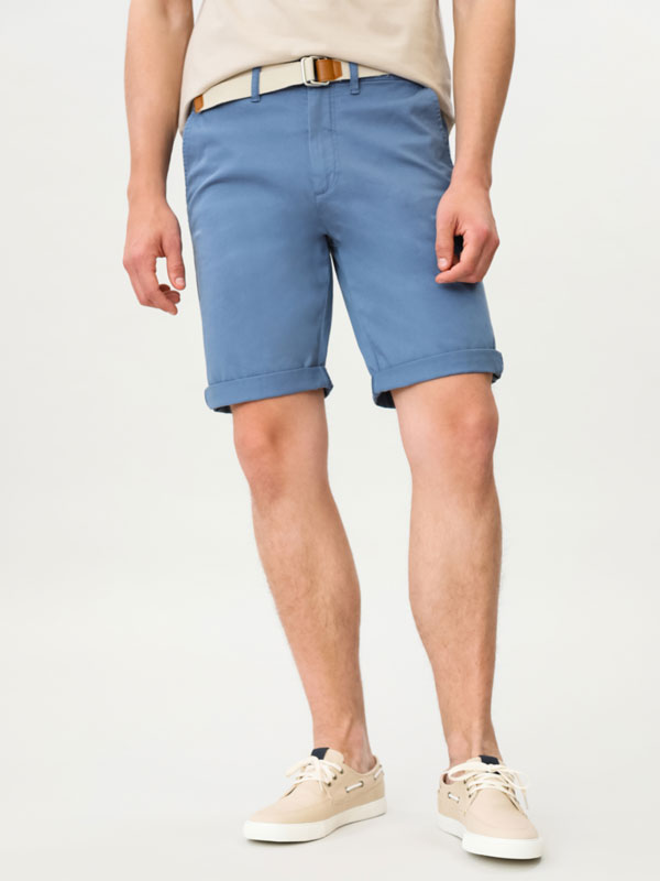 Chino Bermuda Shorts with Belt