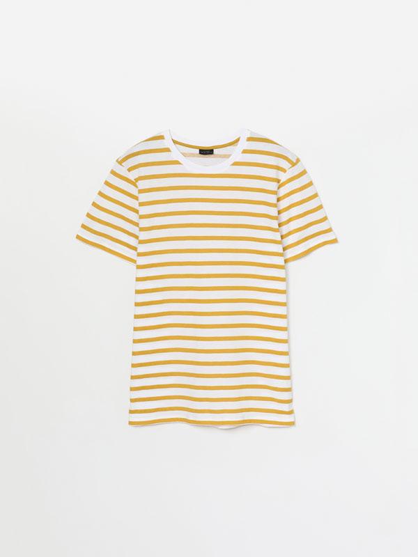 Camiseta manga corta de rayas