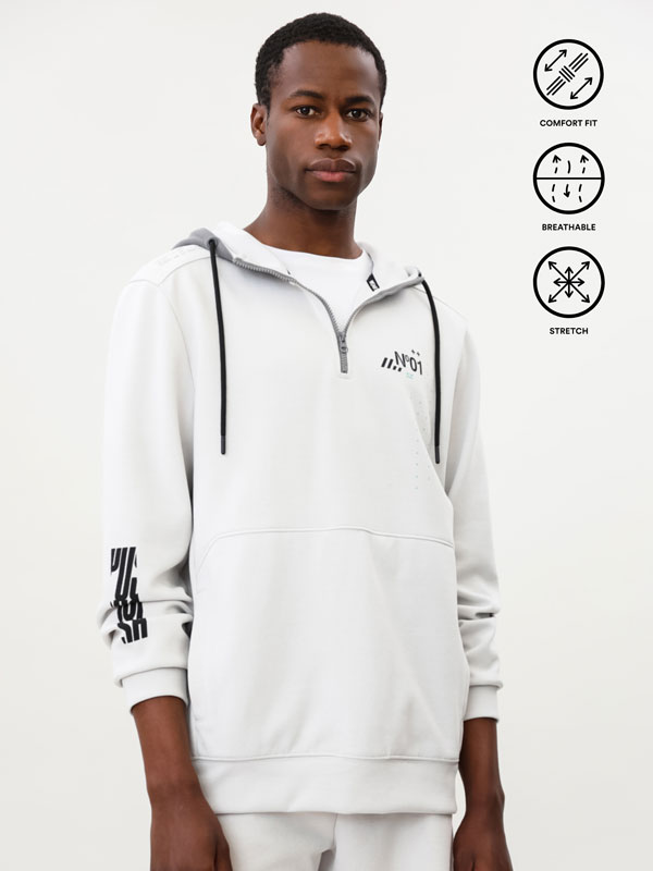 Sports hoodie with print