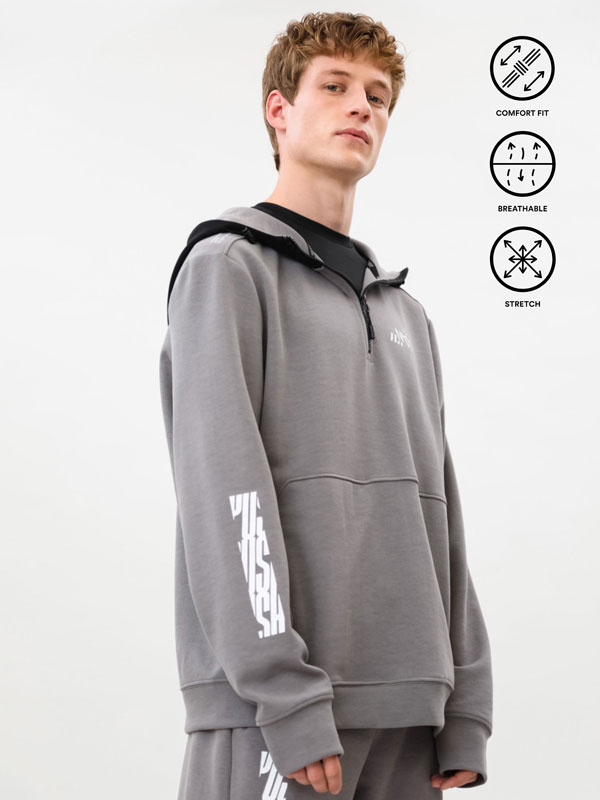Sweatshirt desportiva estampada