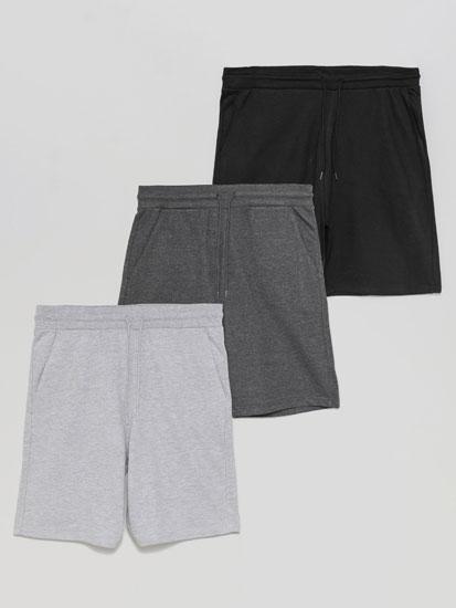 Pack de 3 calções jogging básicos