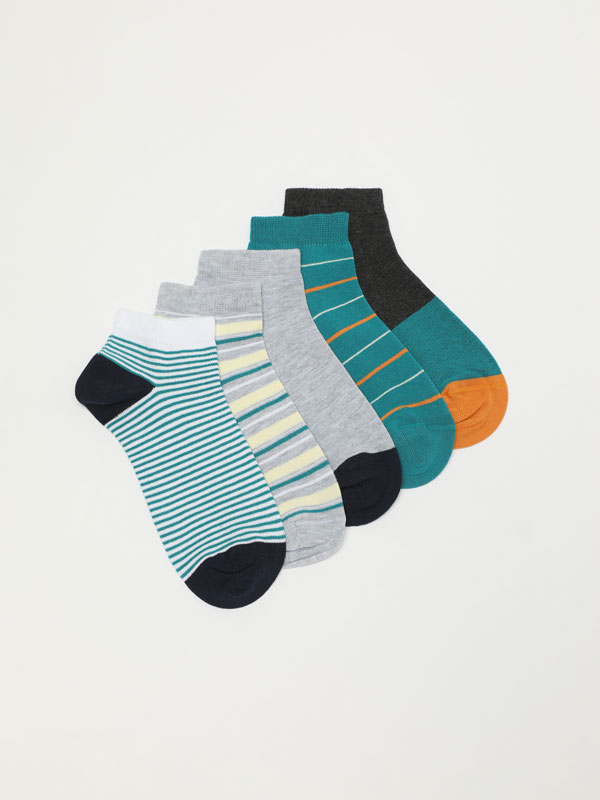Pack de 5 pares de meias estampadas